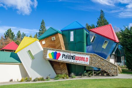 puzzling: Wanaka, New Zealand - April 29,2016 : Puzzling World which is located at south island in New Zealand. Editorial