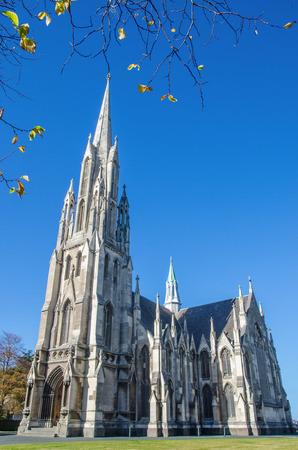 The First Church of Otago in Dunedin, New Zealand Archivio Fotografico