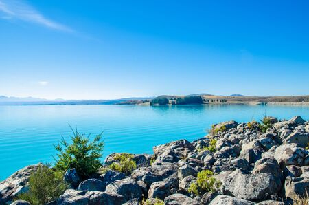 south island new zealand: Lake Pukaki in south island New Zealand.