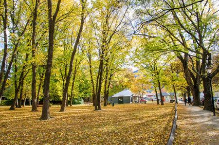 newzealand: Arrowtown,New Zealand - April 27,2016 : Autumn landscape of historic town in Arrowtown, New Zealand Editorial