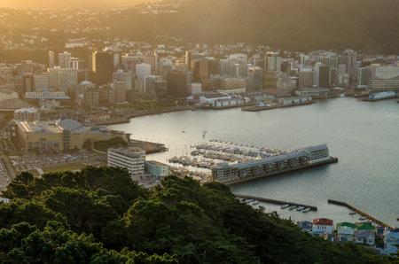 Wellington,New Zealand - April 14,2016 : Beautiful sunset of Mount Victoria in New Zealand