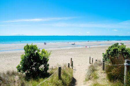Long Bay Beach Park in Auckland,New Zealand.