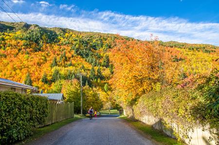 Autumn landscape of Arrowtown in New Zealand
