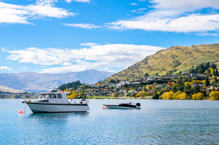 Lake Wakatipu which is located in Queenstown, New Zealand.