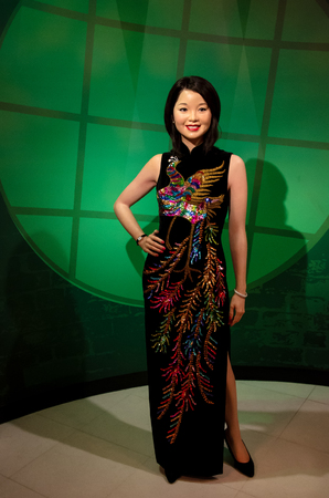Singapore - September 15,2015 : The wax figure of Teresa Teng in Madame Tussauds Singapore.