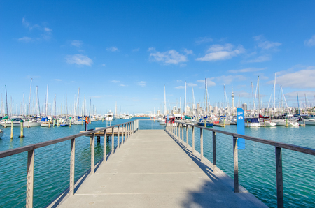 Auckland,New Zealand - October 25,2015 : Westhaven Marina is the largest yacht marina in Auckland,New Zealand.