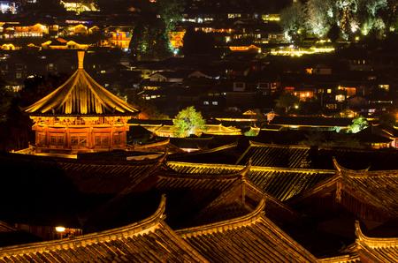 Night view of Old Town of Lijiang, Yunnan Province, China.