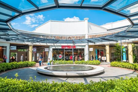 freeport: Malacca,Malaysia - July 16,2017 :Freeport AFamosa Outlet is the biggest shopping mall in Alor Gajah, which is housing more than 70 international sports, fashion,and accessories brands at great rates. Editorial