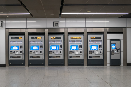 Kuala Lumpur,Malaysia - July 25,2017 : Token machines located at the station MRT ( (Mass Rapid Transit). It is the latest public transportation system in Klang Valley from Sungai Buloh to Kajang. Editorial