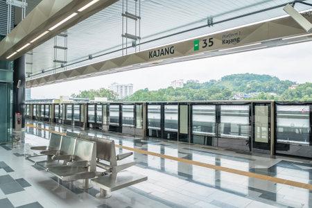 Kuala Lumpur,Malaysia - July 25,2017 : Latest MRT (Mass Rapid Transit) kajang platform. MRT is the latest public transportation system in Klang Valley from Sungai Buloh to Kajang.