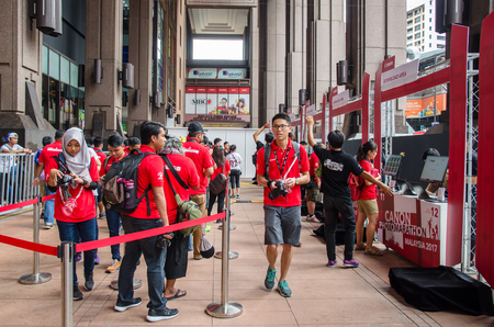 tasked: Kuala Lumpur,Malaysia : September 9,2017 :Canon PhotoMarathon 2017 Malaysia hosting in Berjaya Times Square. Photographic talents tasked to complete the assignments within limited time.