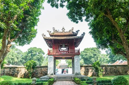 Hanoi,Vietnam - November 1,2017 : Temple of Literature, it also known as Temple of Confucius and ancient university in Hanoi. Editorial