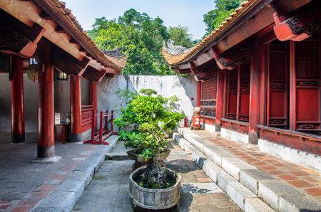 Hanoi,Vietnam - November 1,2017 : Temple of Literature also known as Temple of Confucius in Hanoi.