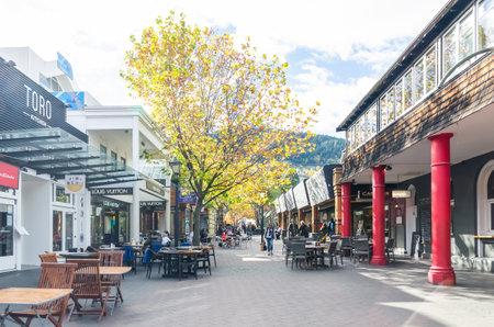 Queenstown,New Zealand - April,26,2016 : Queenstown mall is the popular landmark in New Zealand,people can seen exploring around it. Editorial