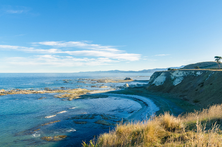 Beautiful landscape view from the Point Kean Viewpoint, Kaikoura New Zealand.