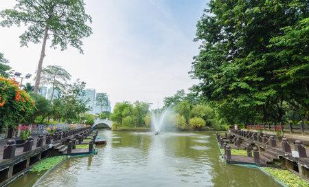 Kuala Lumpur,Malaysia - Aug 22,2018 : Lake Gardens also known as Kuala Lumpur Perdana Botanical Gardens, it is KL's first large-scale recreational park.