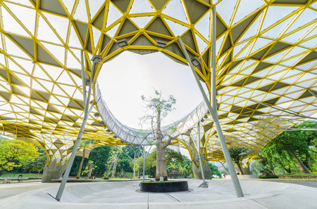 Kuala Lumpur,Malaysia - Aug 22,2018 : Lake Gardens also known as Kuala Lumpur Perdana Botanical Gardens, it is KL's first large-scale recreational park. People can seen exercise and cycling around it. Sajtókép