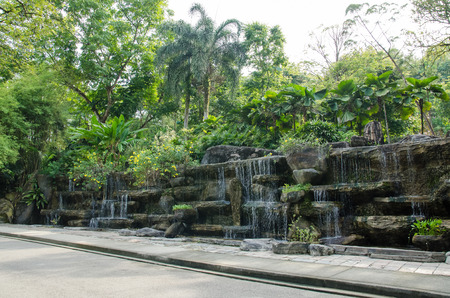 Water feature decoration which is located in the Kuala Lumpur Perdana Botanical Gardens, Malaysia.