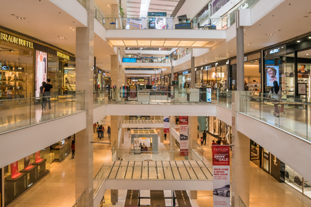 Kuala Lumpur,Malaysia - August 4,2018 : Interior view of the Pavilion Kuala Lumpur. People can seen exploring and shopping around it. Editorial