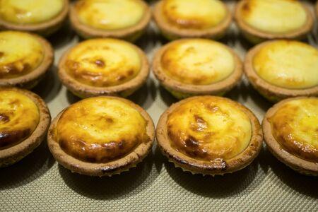 Close-up view of the Hokkaido baked cheese tart