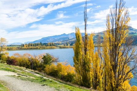 Lake Hayes located in the Wakatipu Basin in Central Otago,South Island in New Zealand.