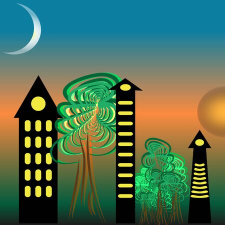 moon  metropolis: city. the alternation of night and day in the big city