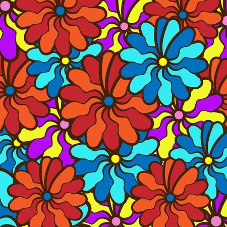 multi colors: field of multi colored bright summer colors for the background Illustration