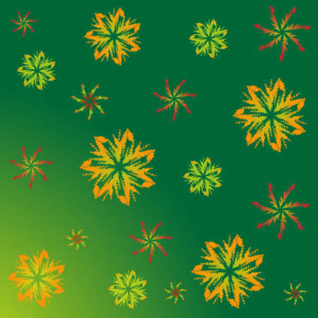 end of summer: A pattern of maple leaves. The end of the summer. September. Autumn