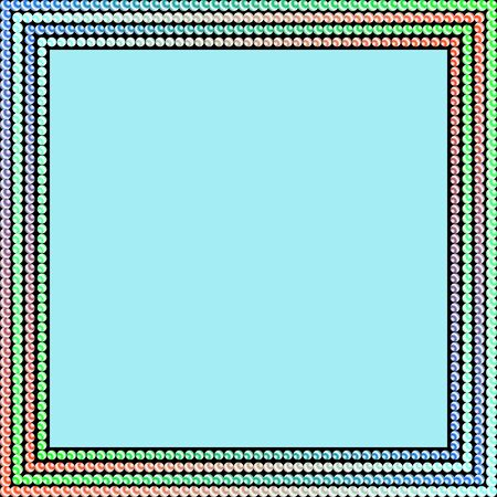 perimeter: Frame of beads. The pearls, beads on the perimeter frame.