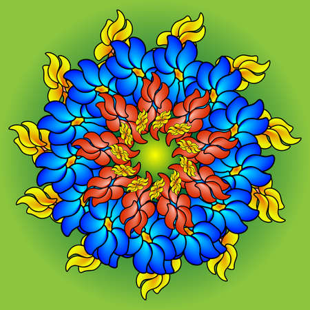 multi colors: floral background. field of multi colored bright summer colors for the background