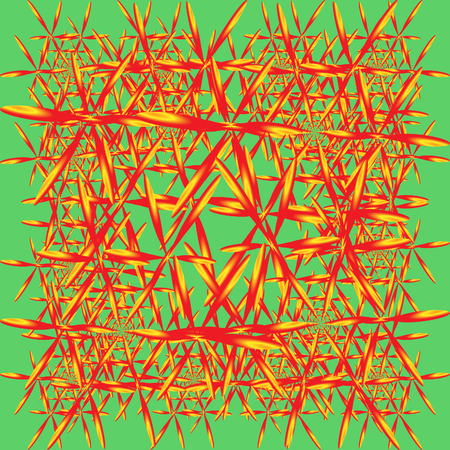 crystallization: Crystallization. Red and yellow crystals for a background or pattern.