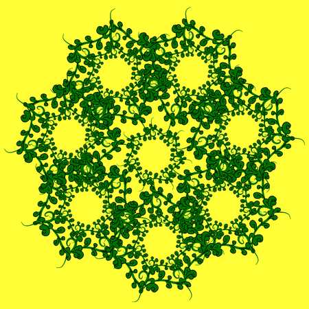 grass blades: The pattern of grass. Gentle green pattern of the blades of grass on a yellow background.