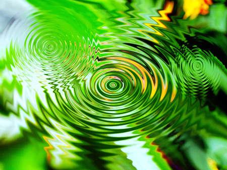 Circles von Wasser in der Natur Standard-Bild - 9642402