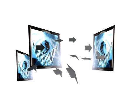 Screen internet, globalization, technology Stock Photo - 9639019