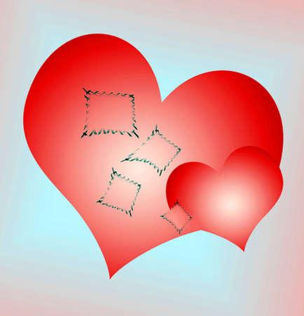 Heart patch, broken hearts  photo