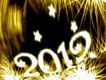 make summary:  2012 glitter and stars Stock Photo