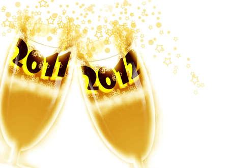 make summary: New Year 2012 Stock Photo