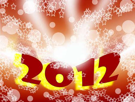make summary: card in 2012  Stock Photo