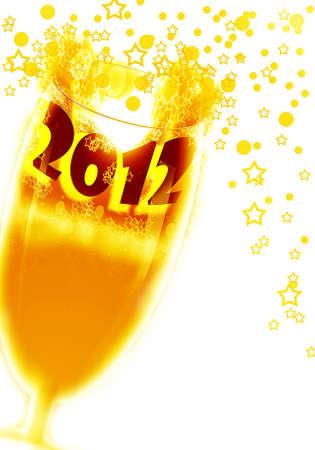 arise:  2012  celebrate year  Stock Photo