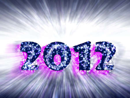 2012, Celebration Happy New Year Stock Photo - 10954316