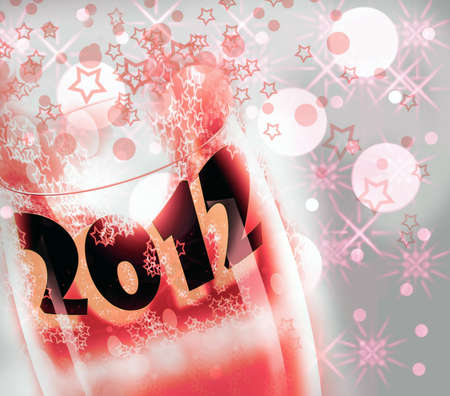 arise: 2012, glass cup  Stock Photo