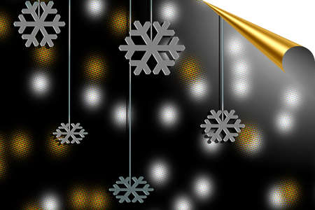 burning money: Christmas background paper in shades of silver and gold Stock Photo