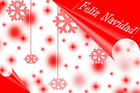 Merry Christmas on red
