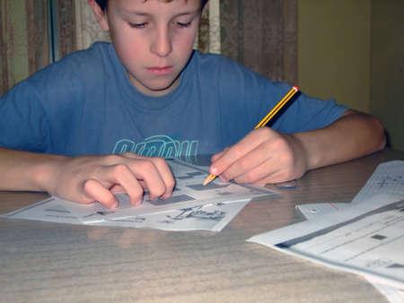 Child writing Stock Photo - 11125535