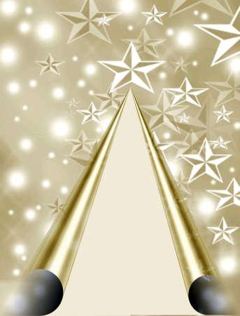 make summary: Christmas tree stars on iridescent paper