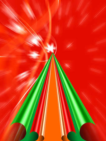 Christmas tree brightly colored paper photo