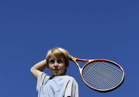 tennis stadium: Los ni�os raquetas de tenis. Foto de archivo