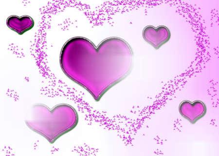 Hearts pink photo