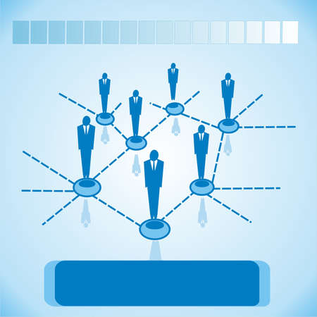 Social networking for business, business Stock Photo - 13281079