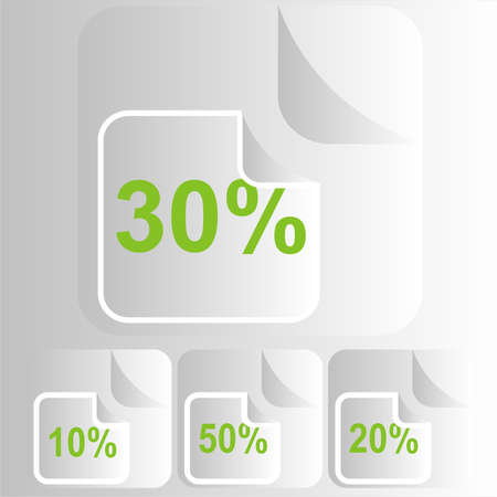 percentages labels Stock Photo - 13542033
